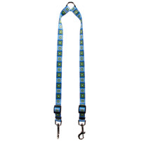 Blue Blocks Coupler Dog Leash
