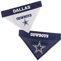 Reversible Dallas Cowboys NFL Pet Bandana