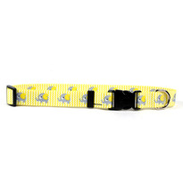 Yellow Elephants  Dog Collar