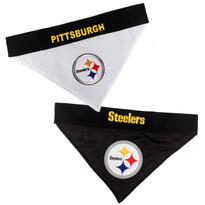 Reversible Pittsburgh Steelers NFL Pet Bandana