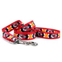 Kansas City Chiefs Argyle Dog Leash