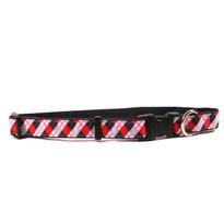 Black Argyle on Black Grosgrain Ribbon Collar