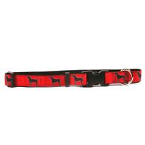 Black Lab on Black Grosgrain Ribbon Collar