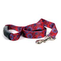 Red Lace Flowers EZ-Grip Dog Leash