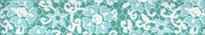 Teal Lace Flowers Waist Walker