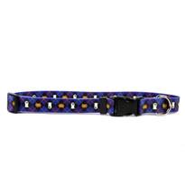 Purple Argyle Halloween Dog Collar with Tag-A-Long
