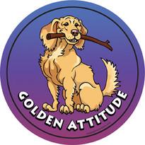 Golden Retriever Attitude Magnet
