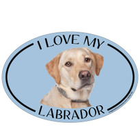 I Love My Yellow Lab Colorful Oval Magnet