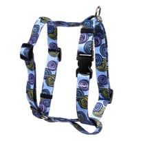 "Spirals Blue Roman Style ""H"" Dog Harness"
