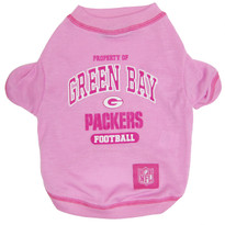 Green Bay Packers NFL Football PINK Pet T-Shirt