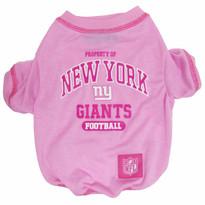 N.Y. Giants NFL Football PINK Pet T-Shirt