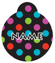 Gumballs Polka Dot HD Pet ID Tag
