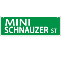 Mini Schnauzer Street Sign