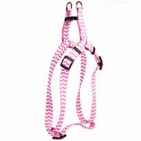 Chevron - Watermelon Step-In Dog Harness