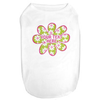 Green Daisy Flower dog shirt