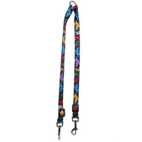 Geckos Black Coupler Dog Leash