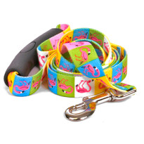 Pink Flamingo EZ-Grip Dog Leash