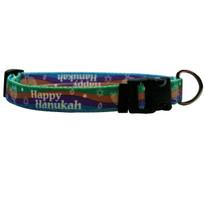 Happy Hanukah Break Away Cat Collar