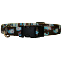 Brown Paisley Break Away Cat Collar