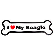 I Love My Beagle Bone Magnet