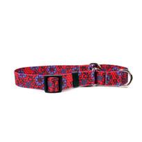 Red Lace Flowers Break Away Cat Collar