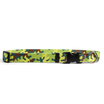 Neon Camo Break Away Cat Collar