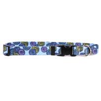 Spirals Blue Break Away Cat Collar