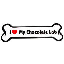 I Love My Chocolate Lab Bone Magnet