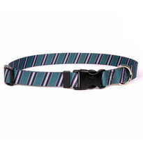 Team Spirit Green, Black and Silver Break Away Cat Collar