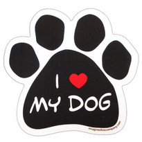 I Love My Dog Paw Magnet