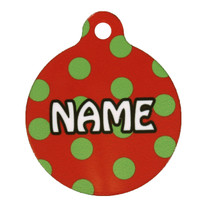 Holiday Polka Dots HD Pet ID Tag