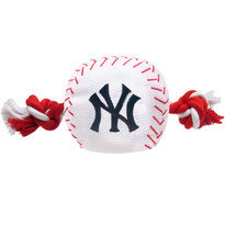New York Yankees Nylon Rope Baseball Squeaker  Dog Toy