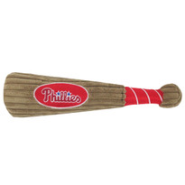 Philadelphia Phillies Baseball Bat Squeaker Dog Toy