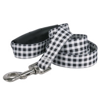 Southern Dawg Gingham Black Premium Dog Leash