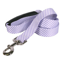Southern Dawg Seersucker Purple Premium Dog Leash