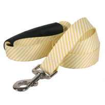 Southern Dawg Seersucker Yellow Premium Dog Leash