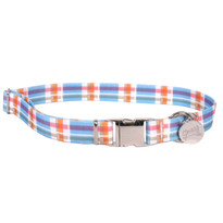 Southern Dawg Madras Blue Premium Dog Collar