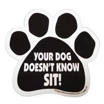 Your Dog Doesn't Know Sit Paw Magnet
