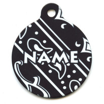 Bandana Black HD Pet ID Tag