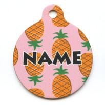 Pink Pineapples HD Pet ID Tag