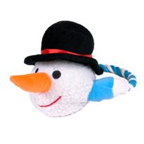 Fluffy Snowman Dog Toy