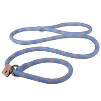 Blue and Grey Rope Slip Leash For Dogs