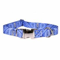 Bandana Blue Premium Metal Buckle Dog Collar
