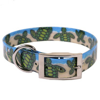 Turtles On The Beach Elements Dog Collar