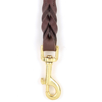 Braided Leather Heavy Duty Dog Leash