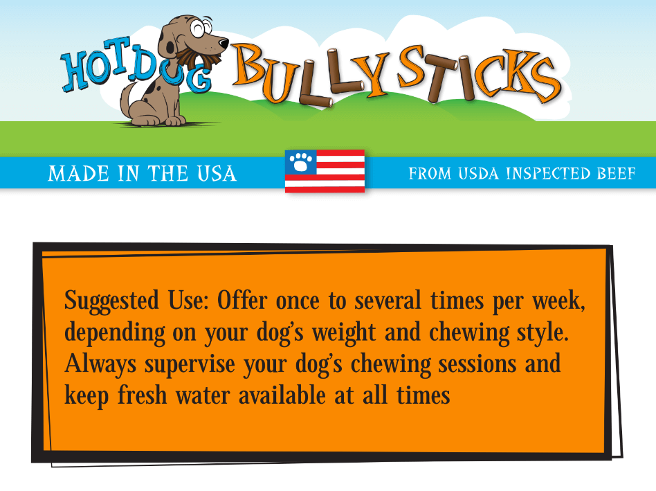 8oz bag of 6 inch bully sticks made in the usa hot dog collars. Black Bedroom Furniture Sets. Home Design Ideas